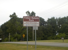 Tinker Nature Park main sign