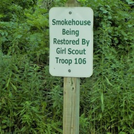Girl Scout smokehouse sign
